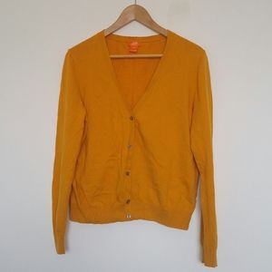 100% Cotton Mustard Yellow Cardigan
